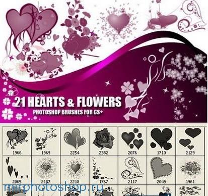 Кисти для фотошопа красивые цветы