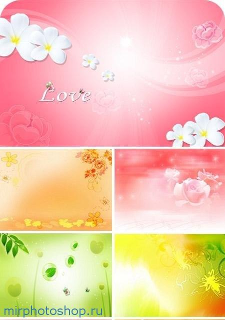 скачать бесплатно романтические фоны для фотошоп
