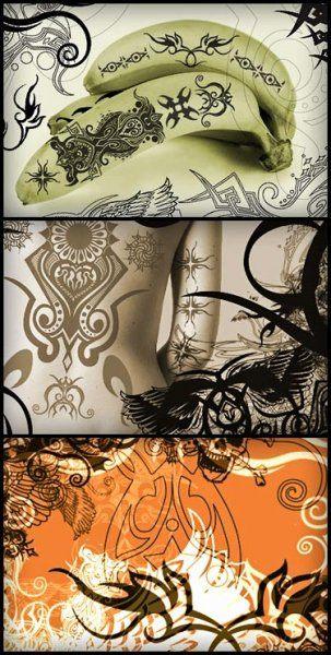 Кисточки для фотошоп татуировки
