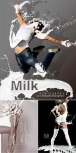 кисти для фотошоп молоко