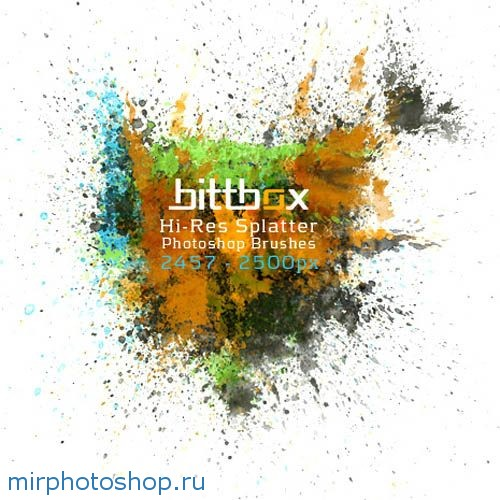 Кисти для фотошоп Брызги красок