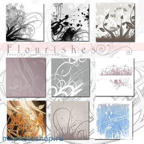 цветочные кисти для фотошоп