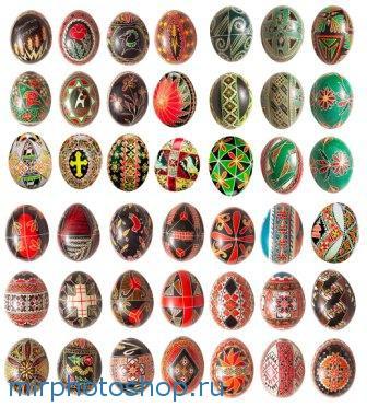 набор пасхальных яиц для фотошоп