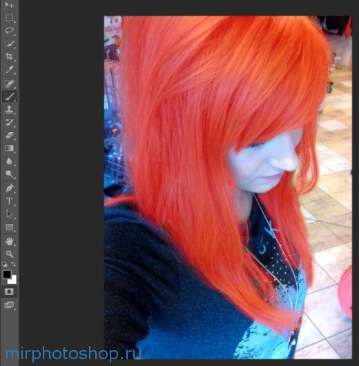 Как изменить цвет волос в фотошопе?