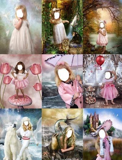 Шаблоны для фотошоп девочки