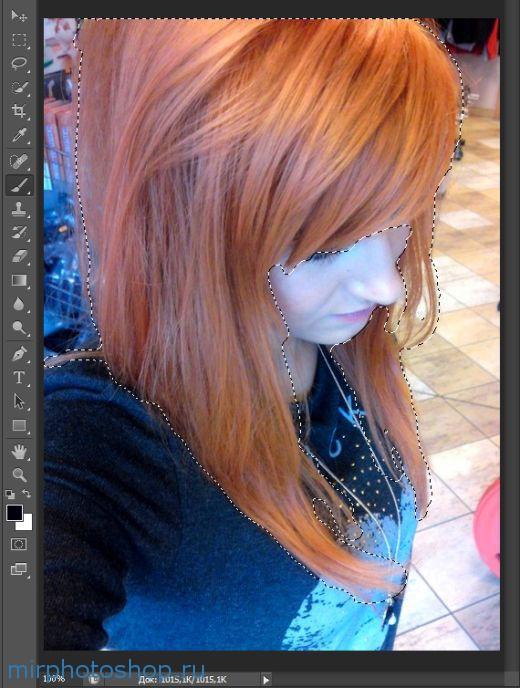 Как выделить волосы в фотошопе?