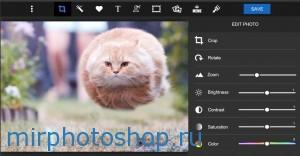 Онлайн фотошоп piZap (пиЗап)