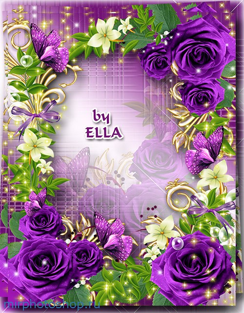 Красивая рамка с цветами в фотошопе