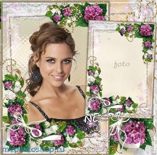 Фотошоп рамка с цветами Весна