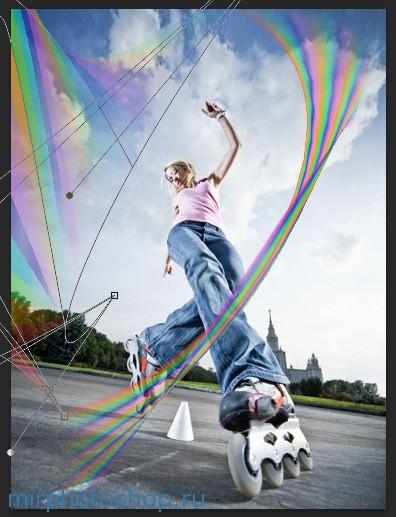 Девушка и радуга урок по фотошопу бесплатно