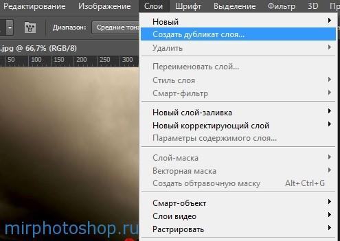 Как создать дубликат слоя в фотошопе ?