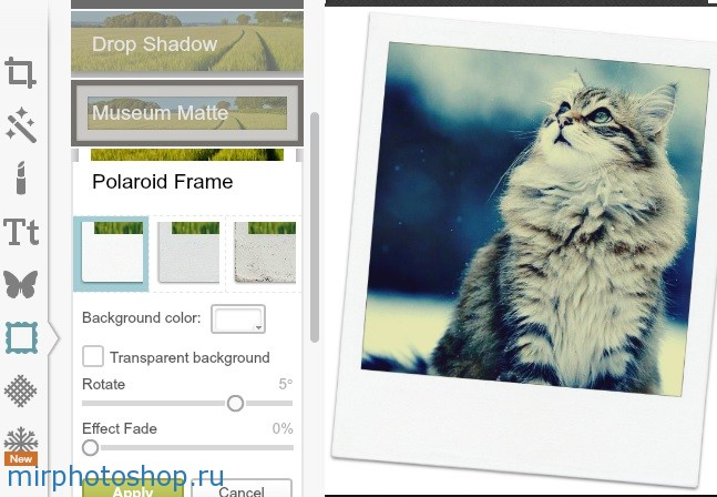 Наложение рамок в фотошоп онлайн