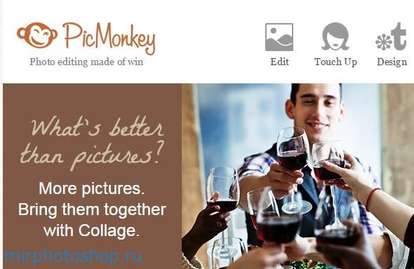 Бесплатный онлайн фотошоп PicMonkey
