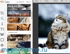 Фотоэффекты в фотошопе онлайн