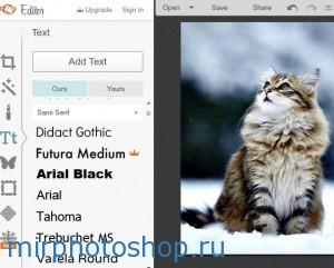 Наложение текста в фотошопе онлайн