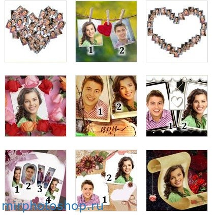 потрясающие романтические эффекты и рамки онлайн